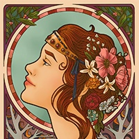 Art nouveau coloring pages