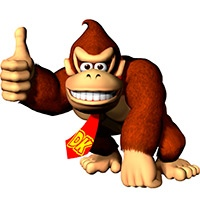 Donkey kong coloring pages