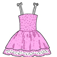 Girl's Dresses coloring pages