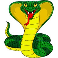 King cobra snake coloring pages