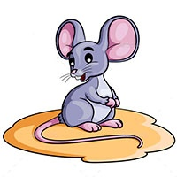 Mouse coloring pages