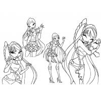 Winx for girls coloring pages