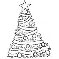 New Year`s decorations coloring pages