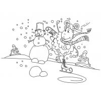 Goat and sheep 2015 New Year coloring pages