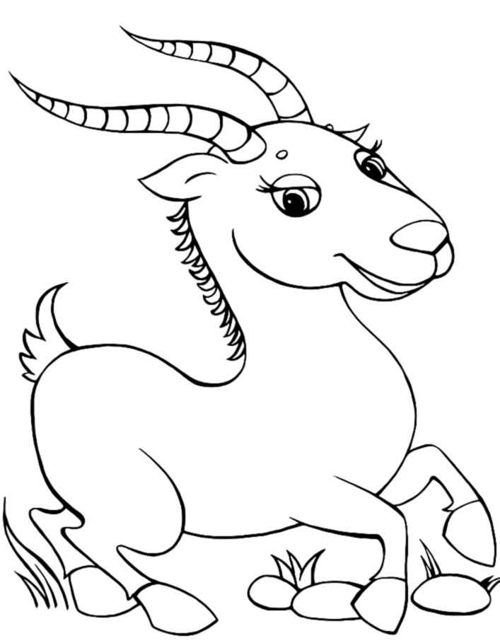 sheep and goats coloring pages - photo#15