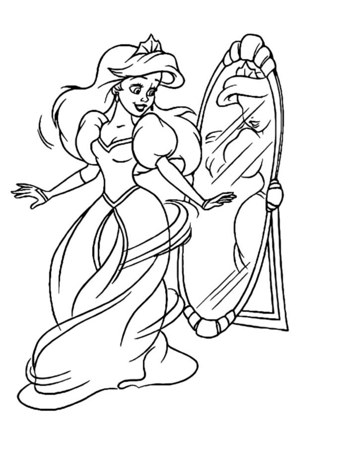 Disney princess coloring pages ariel