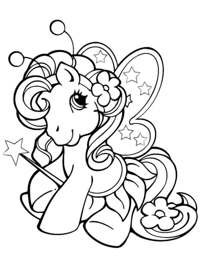Раскраски лошадок для девочек распечатать бесплатно