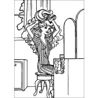 Barbie fashionmonger coloring pages