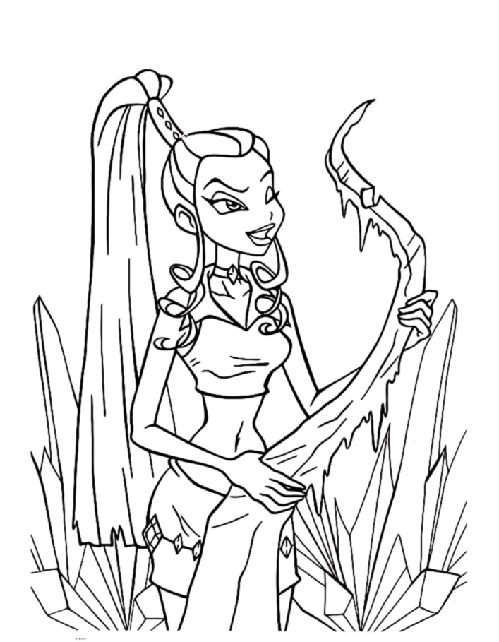 winx club witches coloring pages - photo#7