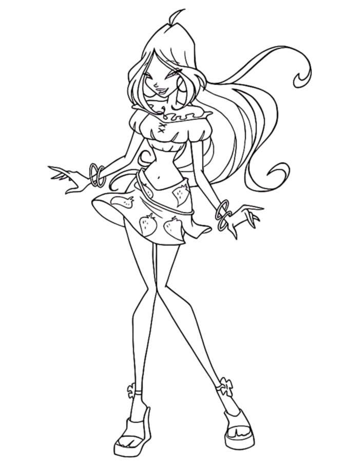 Winx Flora Coloring Pages