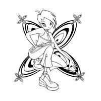 Winx Tecna coloring pages