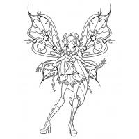 Winx Stella coloring pages