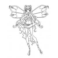 Winx Layla coloring pages