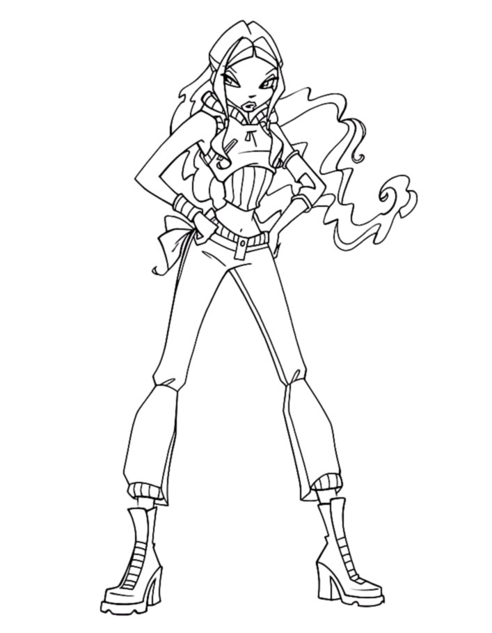 layla winx coloring pages - photo#38