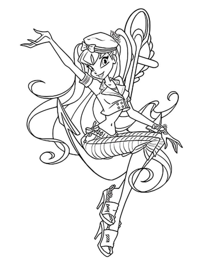 layla winx coloring pages - photo#41