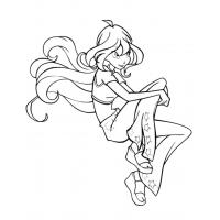 Winx Bloom for girls coloring pages
