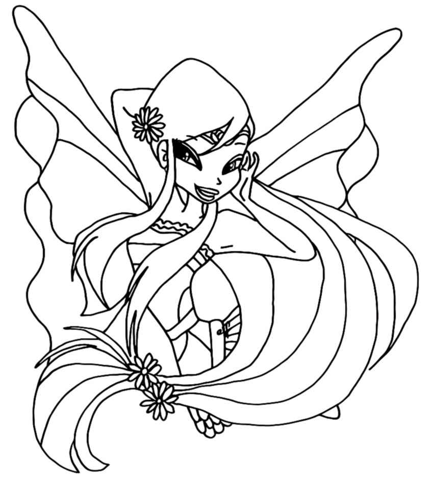 Winx Club Stella Harmonix Coloring Pages
