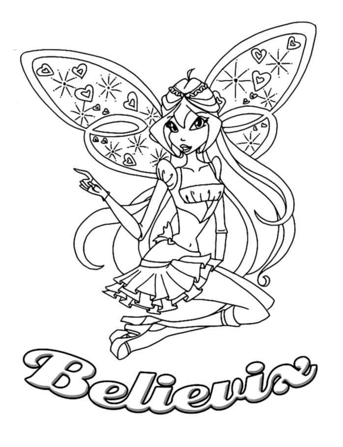 winx believix coloring pages | Winx Believix coloring pages