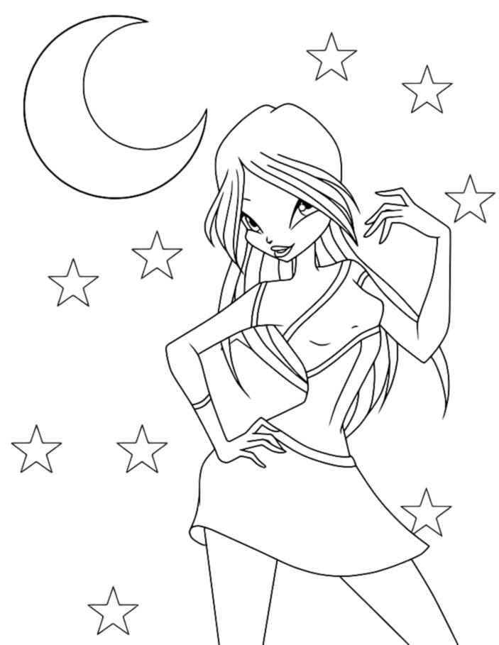winx charmix coloring pages - photo#22