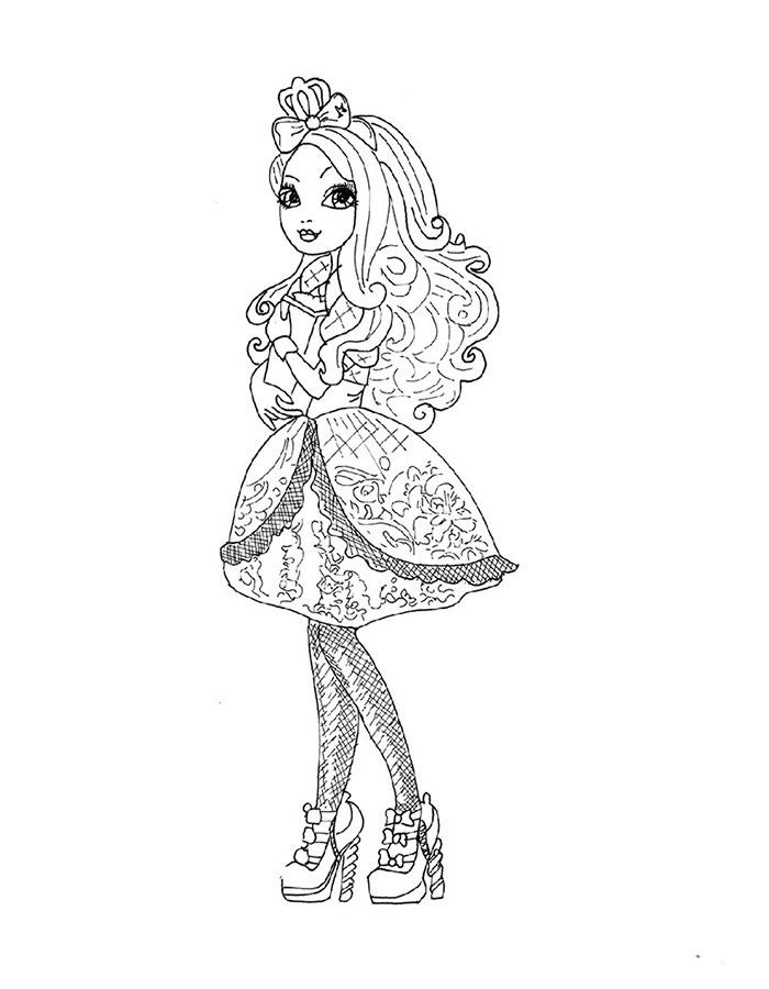 Ever After High Printable Apple White Coloring Page Free Printable Ever After High Coloring