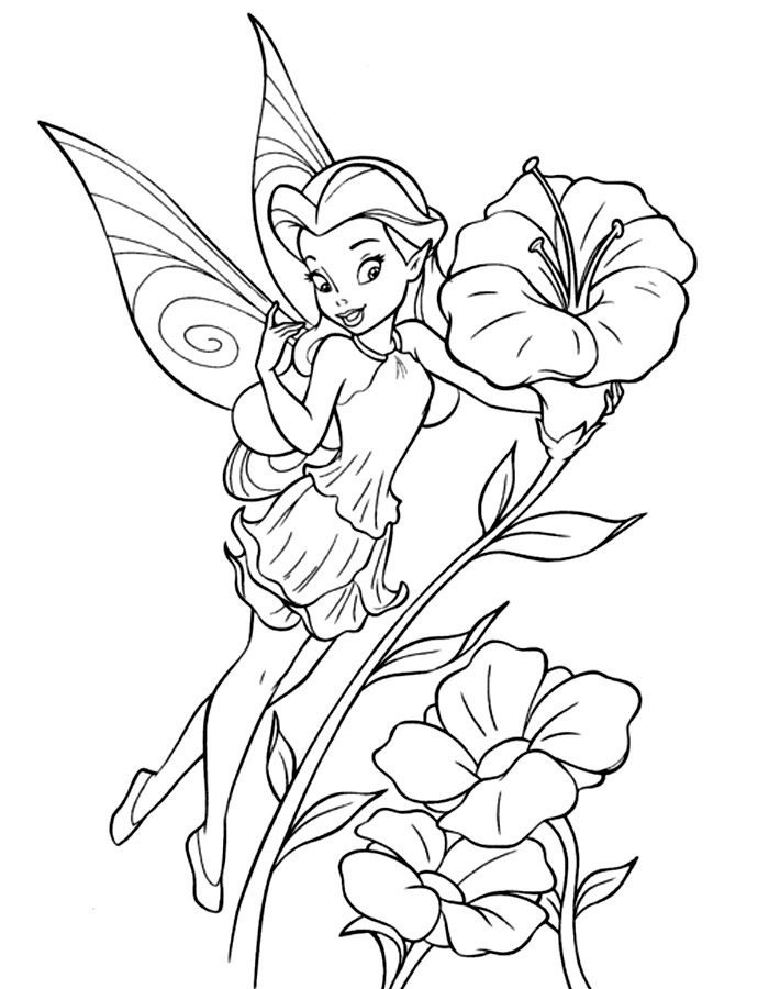Tinkerbell Coloring Pages Tinkerbell Coloring Sheets