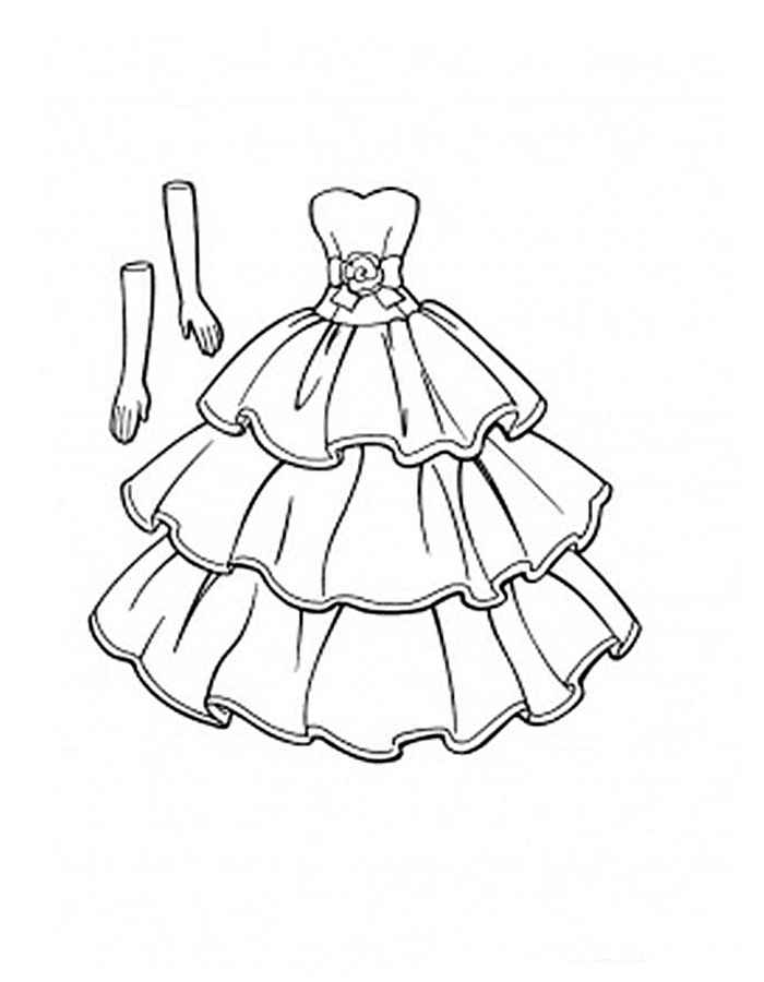 Dresses Coloring Pages