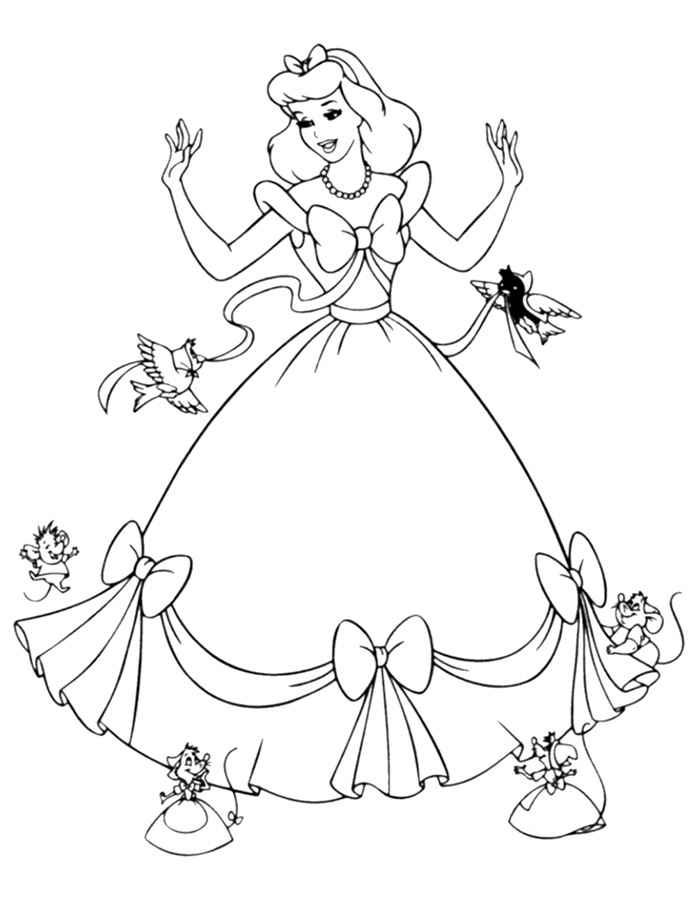 Girl\'s Dresses Coloring Pages