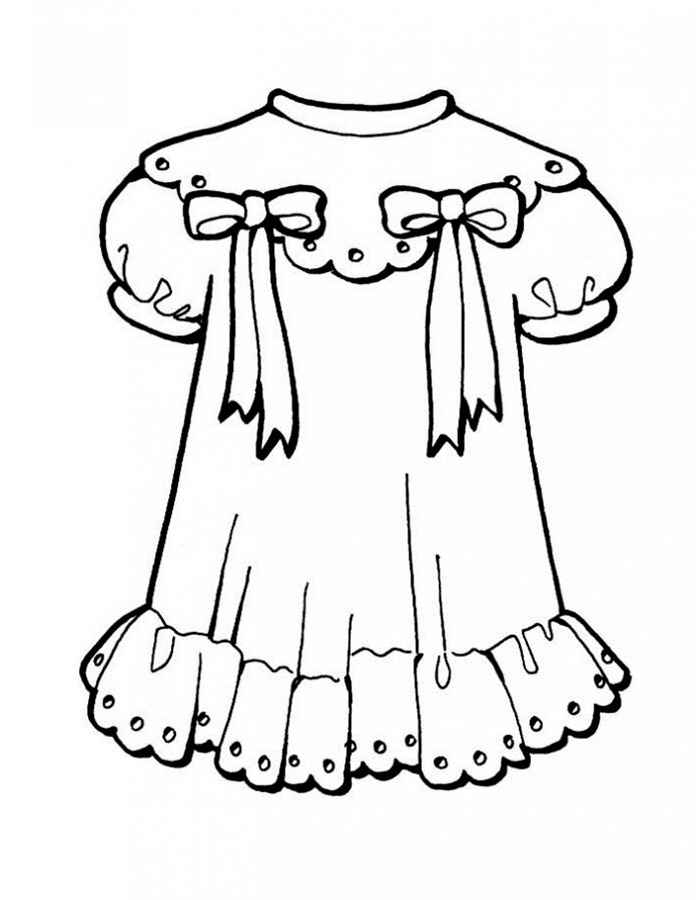 girl 39 s dresses coloring pages