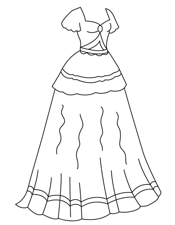 girls dresses coloring pages - Dress Coloring Pages