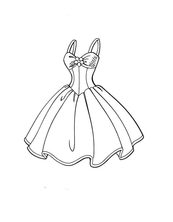 Girls Dresses Coloring Pages