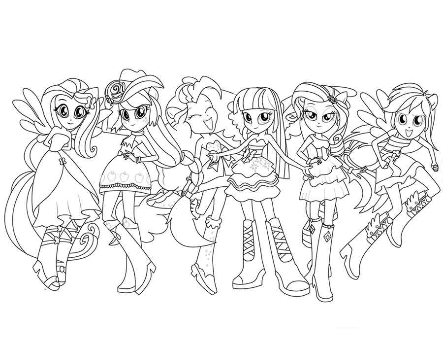 Equestria Girls Coloring Pages Mesmerizing Equestria Girls Coloring Pages Review