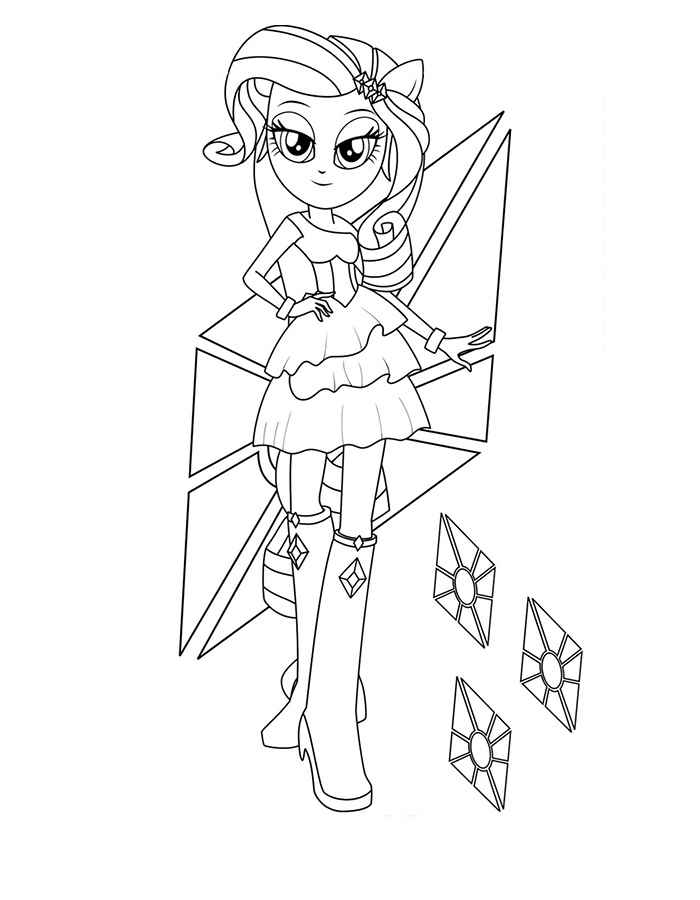 Kleurplaat Fluttershy Equestria Equestria Girls Coloring Pages