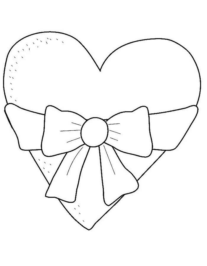Valentine hearts coloring pages for Heart coloring pages for girls
