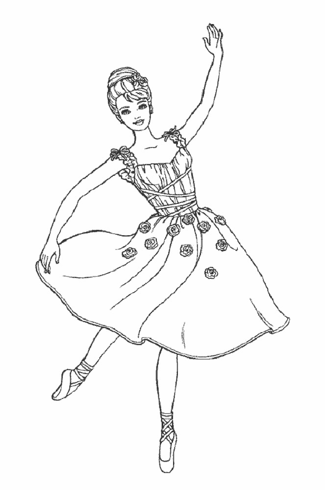 ballerina coloring pages - Ballerina Printable Coloring Pages