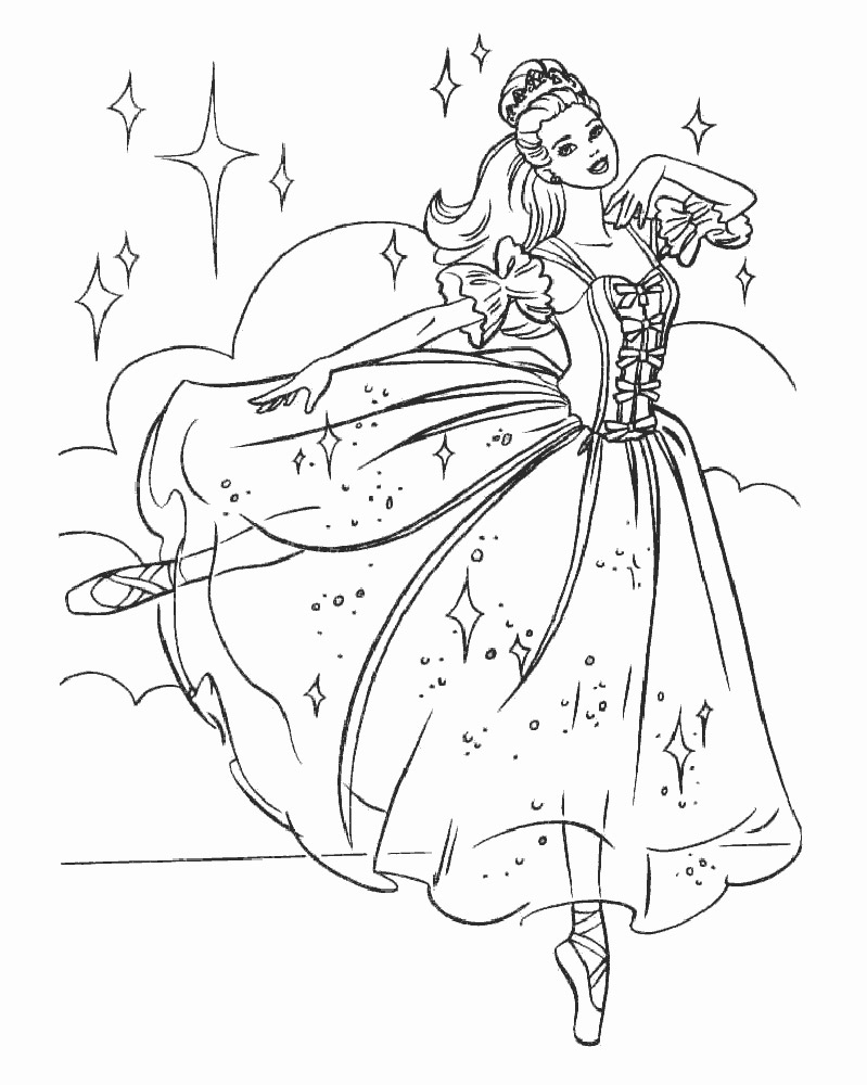 Coloring pages ballerina - Ballerina Coloring Pages