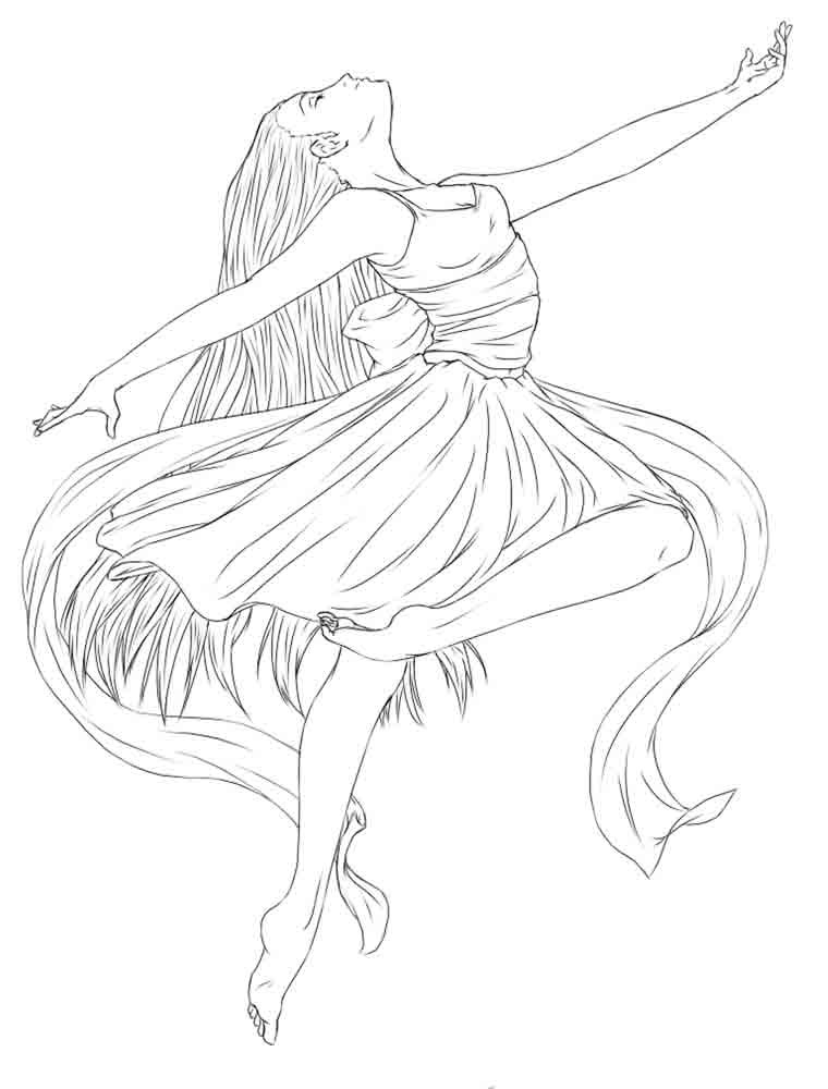 Ballet And Dancing Coloring Pages