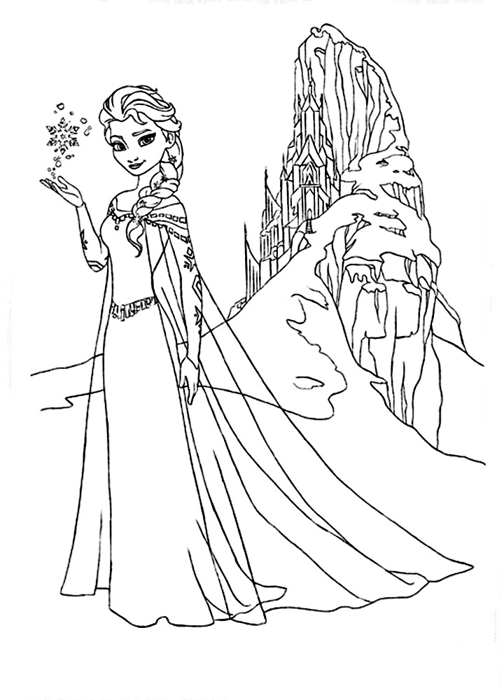 Print this Elsa coloring page out or download