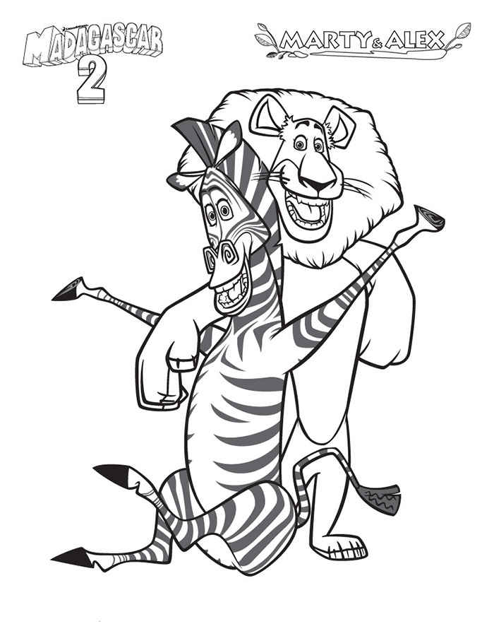 madagascar coloring pages - Madagascar Coloring Pages