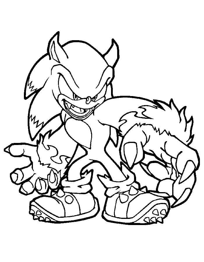 coloring pages sonic x | Free Sonic Coloring Pages to Print