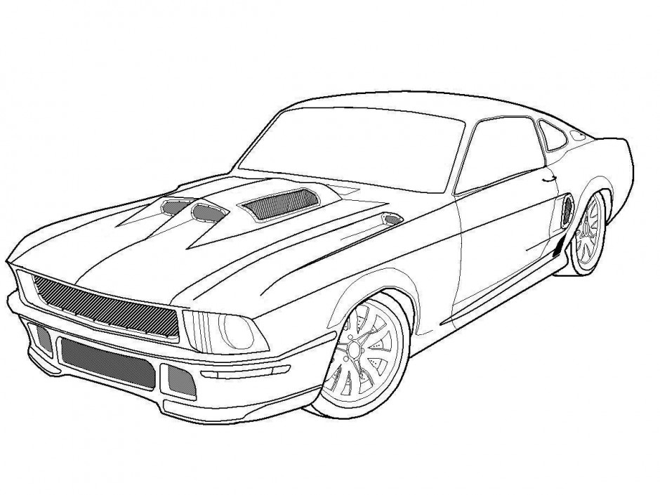 Muscle Car Coloring Pages Printable
