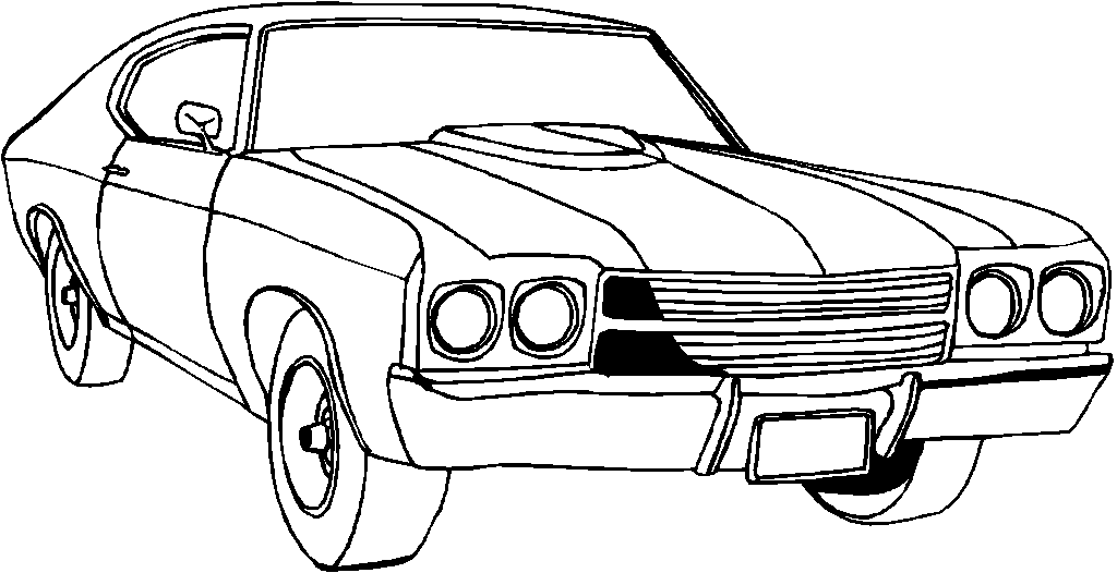 muscle car coloring pages - Nascar Coloring Pages