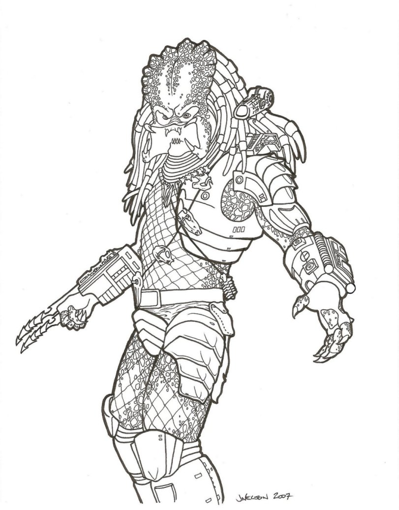 Free coloring pages aliens - Coloring Pages Predator Coloring Pages Coloring Pages Predator Pages