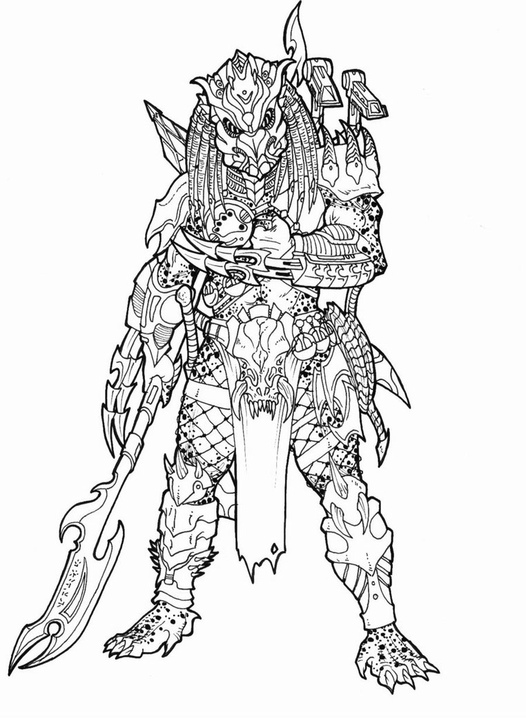 predator coloring pages - Alien Coloring Pages 2
