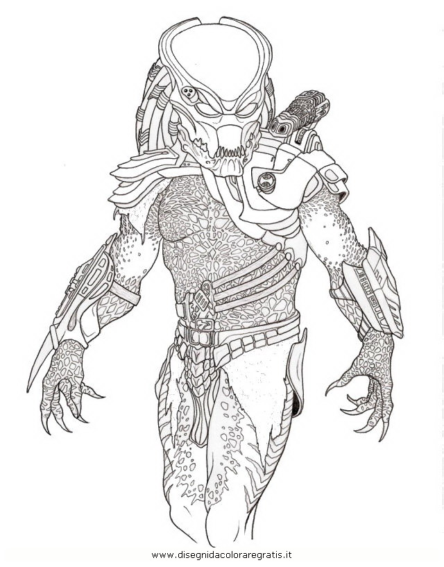 Alien Predator Coloring Pages Elioleracom
