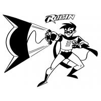 Batman and robin coloring pages