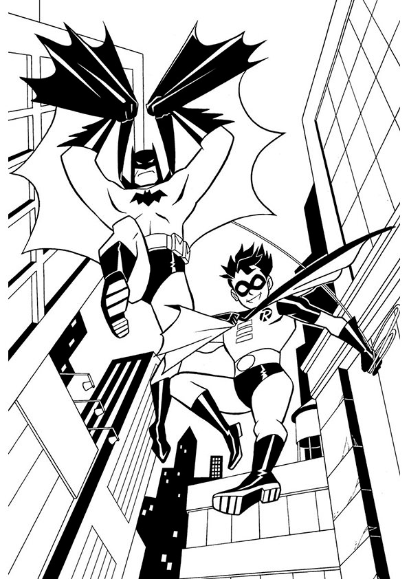Batman and robin coloring pages for Free batman and robin coloring pages
