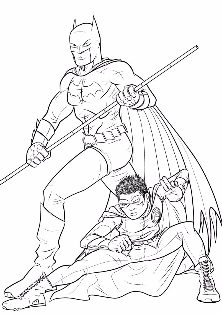 Coloring pages robin