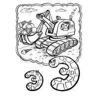 Excavator coloring pages