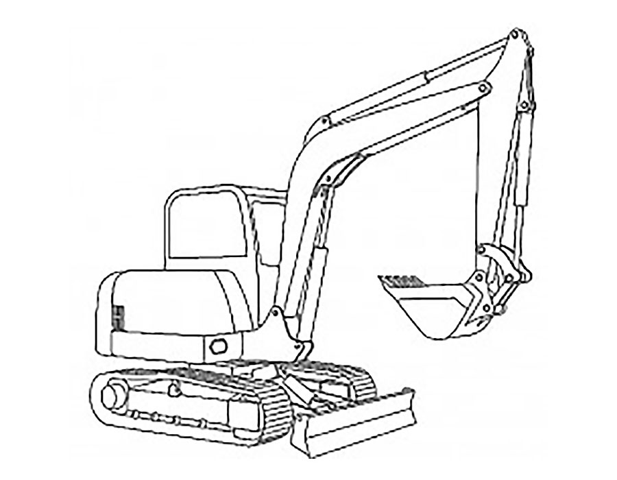 excavator coloring pages to print - photo#27