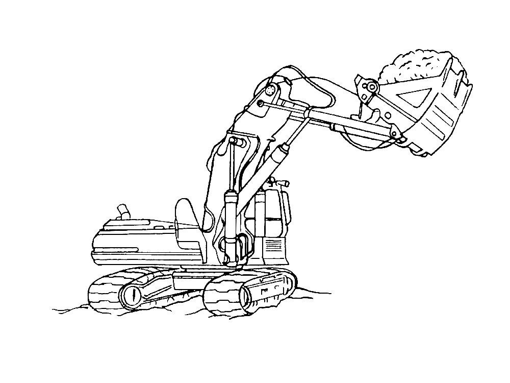 excavator coloring pages to print - photo#31